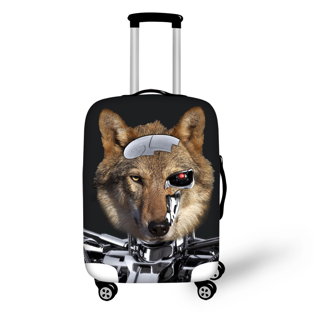 Wolf Animals Electricity Personality Waterproof Stretch Washable Outdoor 3D luggage Covers