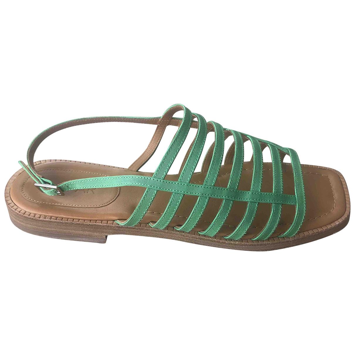 By Far \N Green Cloth Sandals for Women 38 EU