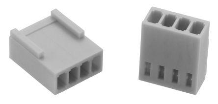 Wurth Elektronik , WR-WTB Female Connector Housing, 2.54mm Pitch, 4 Way, 1 Row (5)
