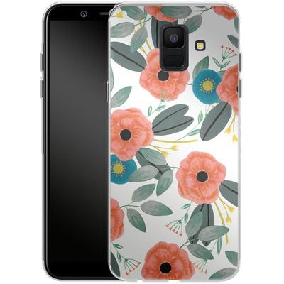 Samsung Galaxy A6 Silikon Handyhuelle - Poppy Dream von Iisa Monttinen