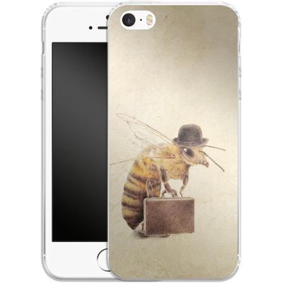 Apple iPhone 5s Silikon Handyhuelle - Worker Bee von Eric Fan