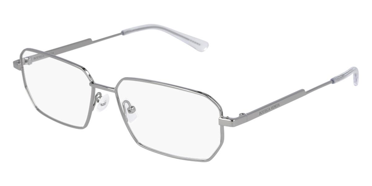Bottega Veneta BV1073O 003 Men's Glasses Grey Size 56 - Free Lenses - HSA/FSA Insurance - Blue Light Block Available