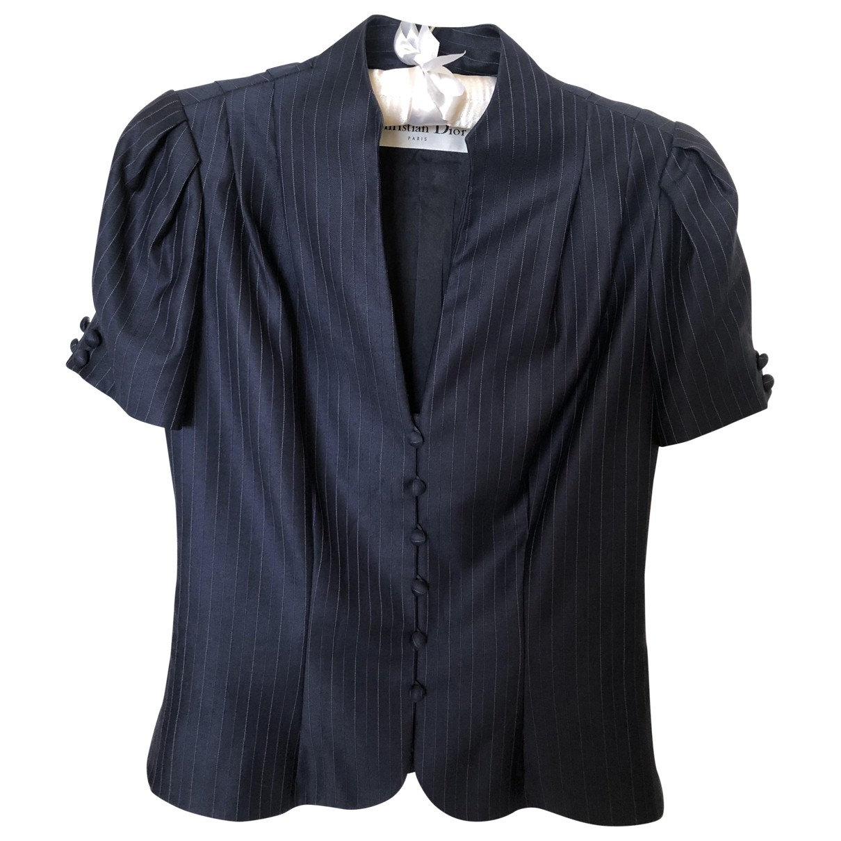 Dior \N Jacke in  Marine Wolle