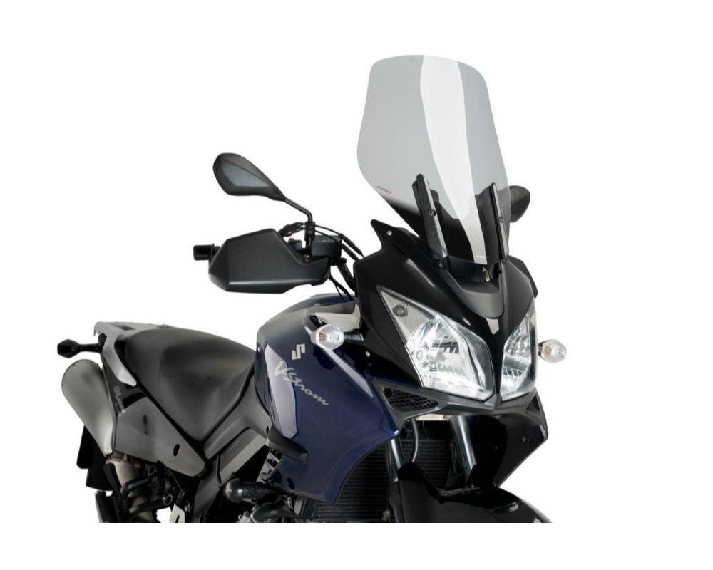 Puig 1880H Touring Windscreen - Light Smoke Suzuki V-Strom 1000 2004