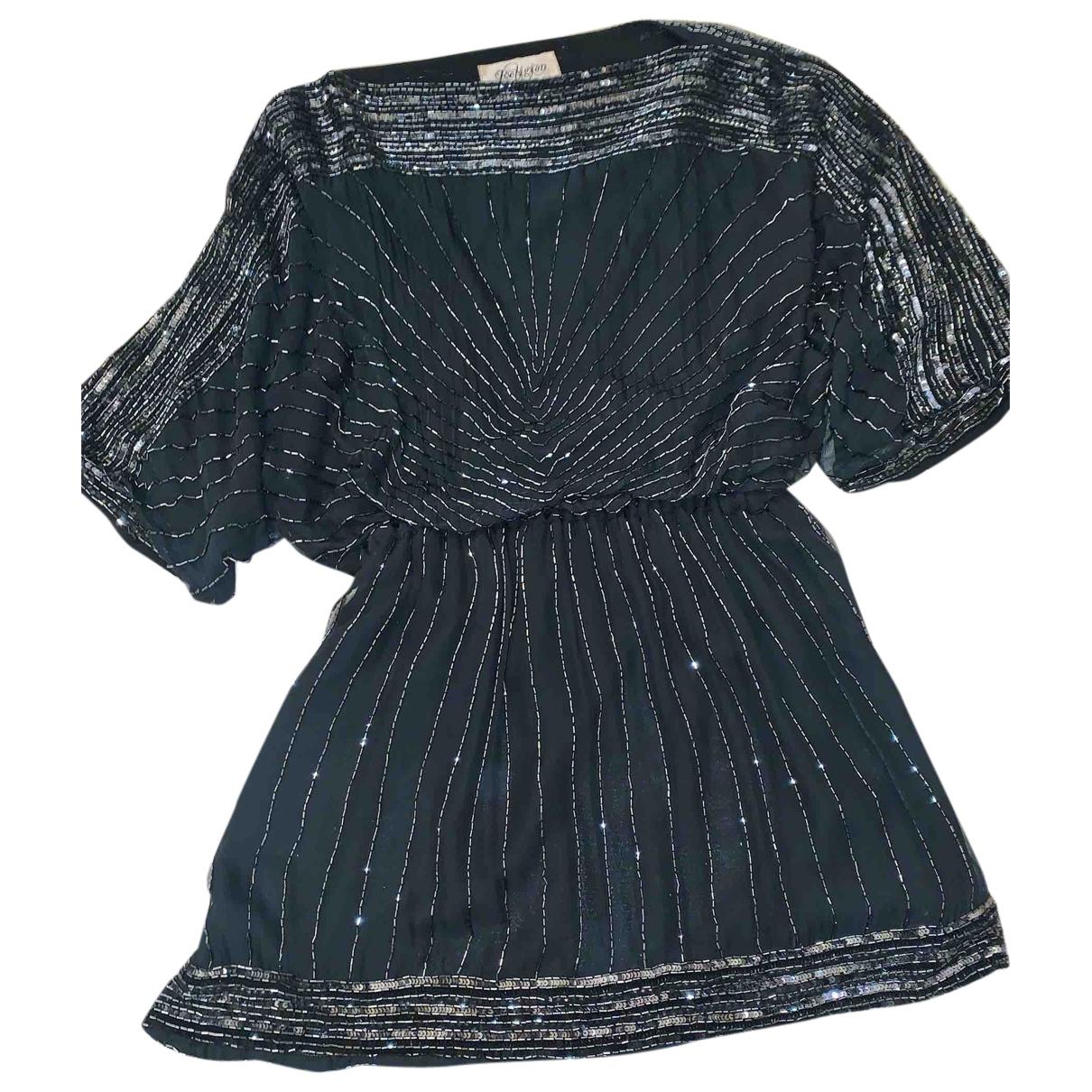 Religion \N Kleid in  Schwarz Baumwolle