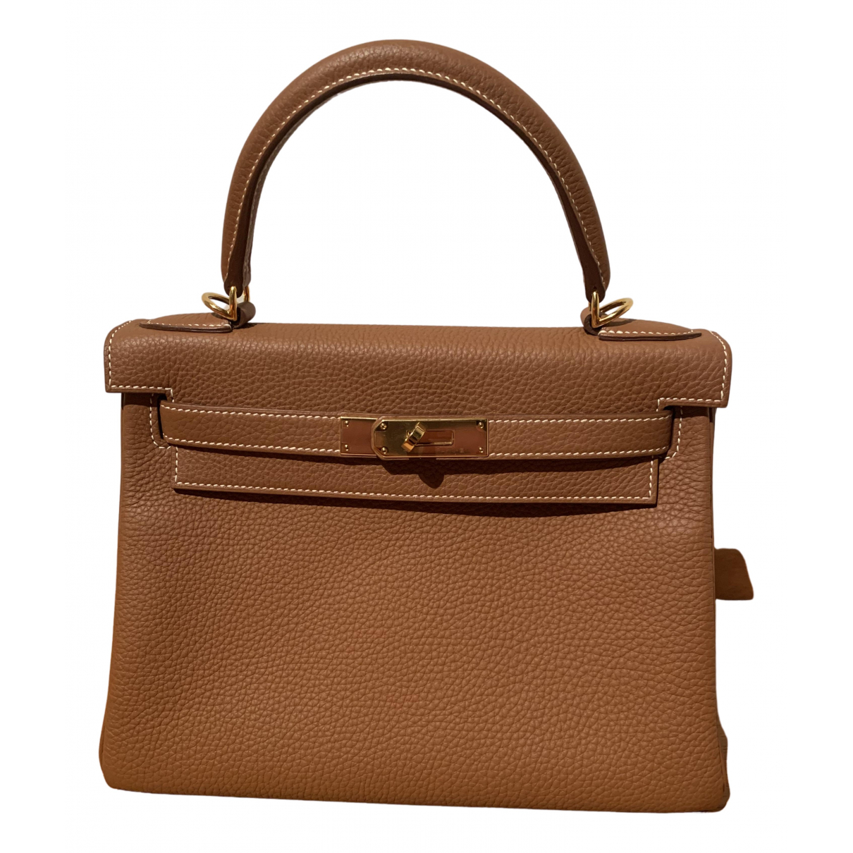 Hermes Kelly 28 Handtasche in  Braun Leder