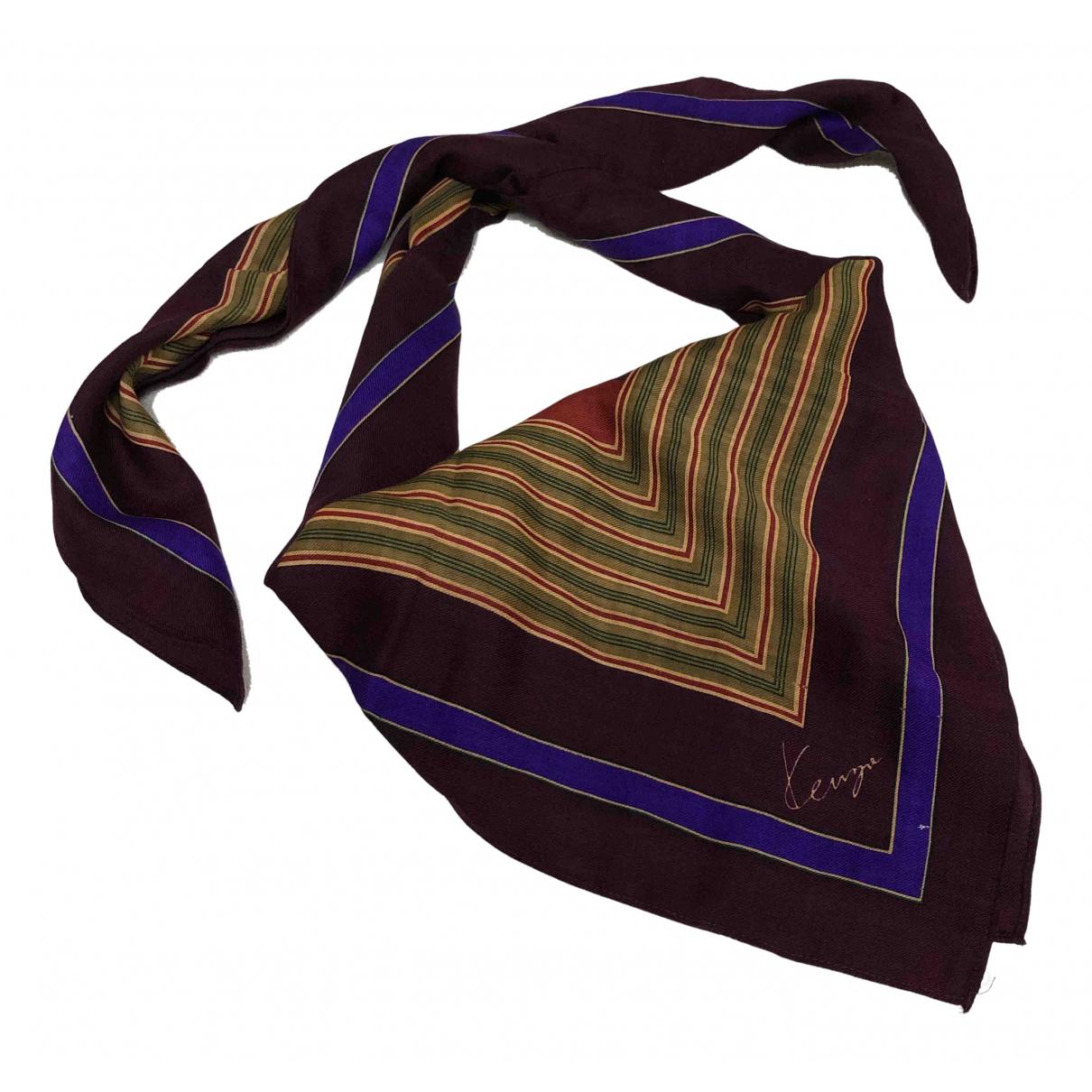 Kenzo \N Schal in  Bordeauxrot Wolle