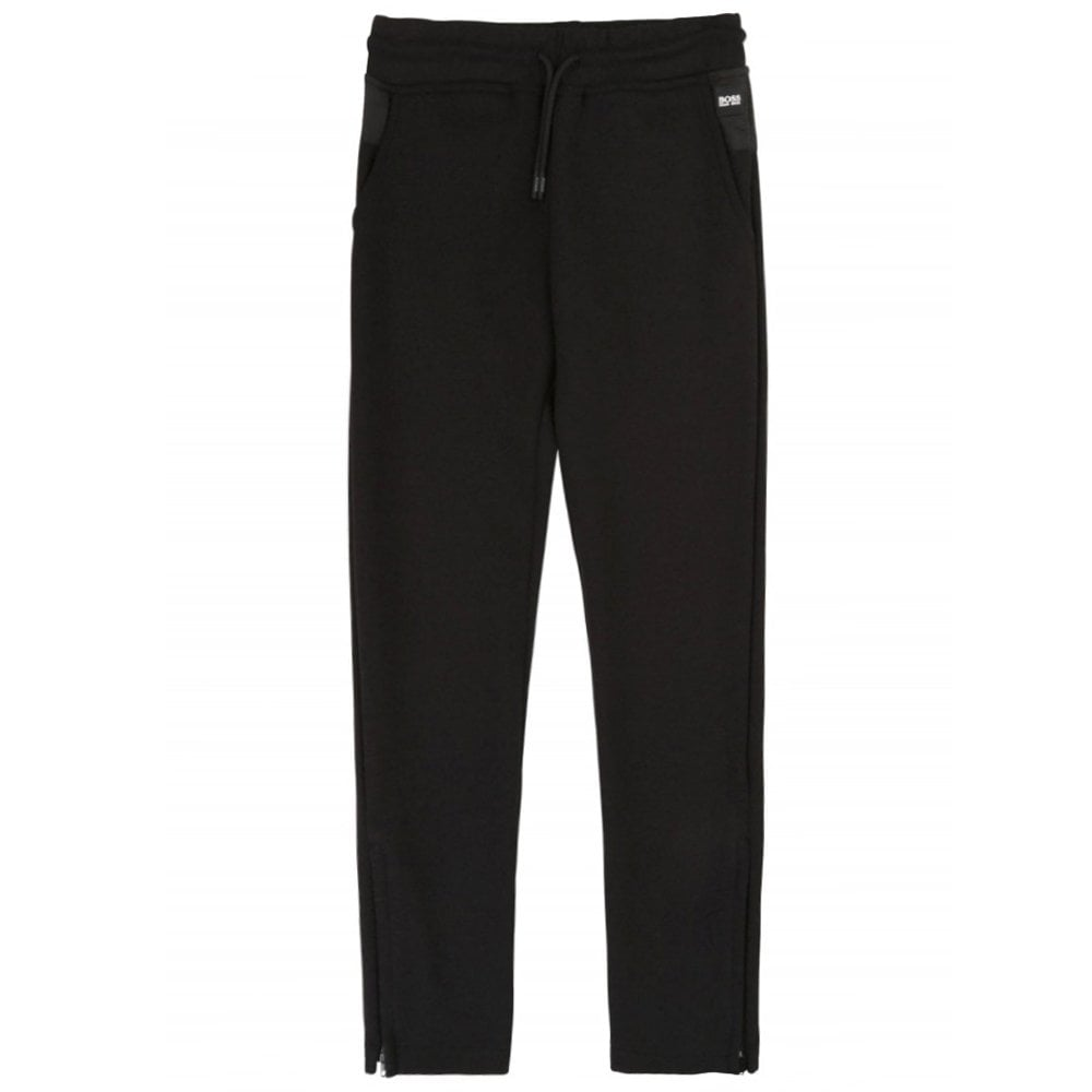 Hugo Boss Kids Small Logo Jogger Bottoms Colour: BLACK, Size: 14 YEARS