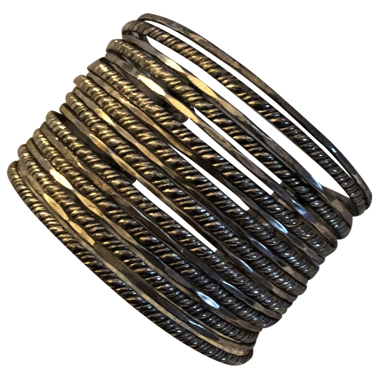 Non Signé / Unsigned Manchette Silver Metal bracelet for Women \N