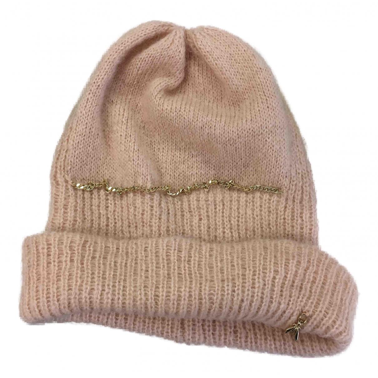 Patrizia Pepe - Chapeau   pour femme en laine - rose