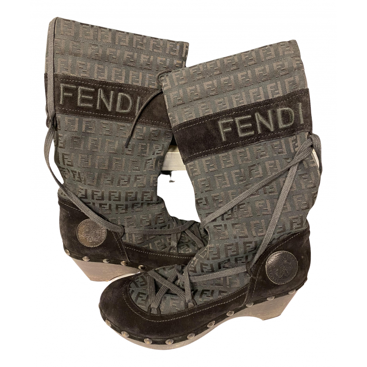 Fendi \N Cloth Boots for Women 38.5 EU