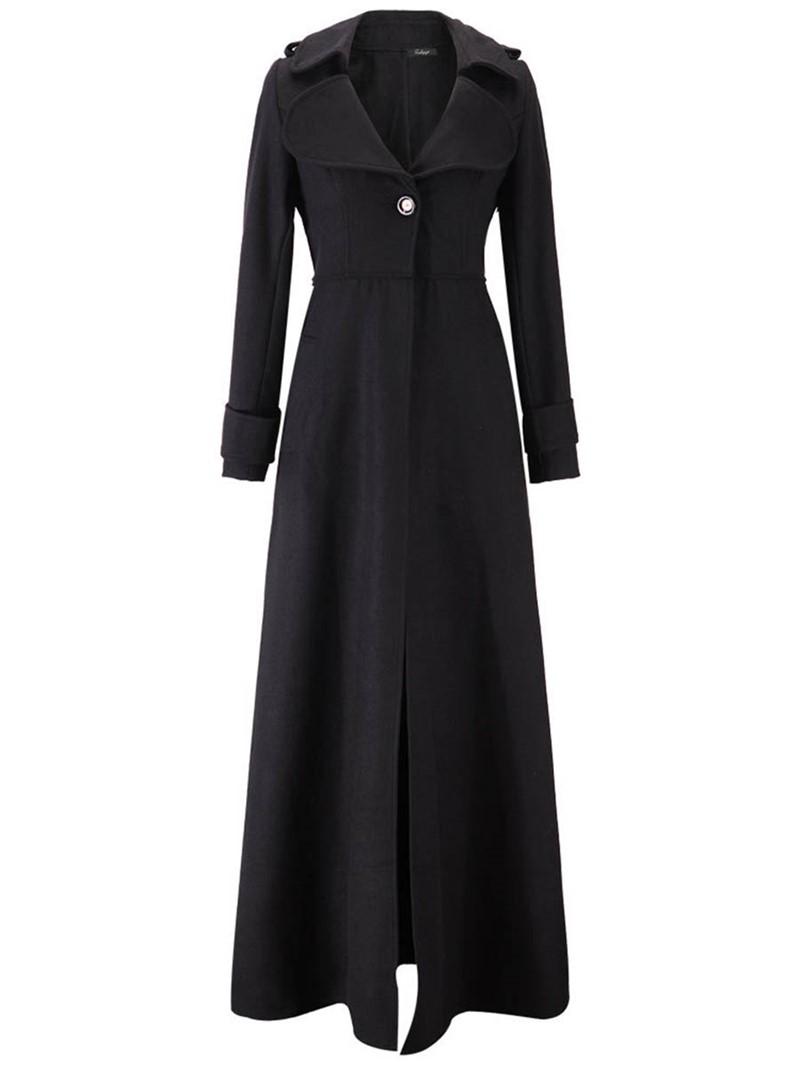 Ericdress Long Long Sleeve Slim Trench Coat