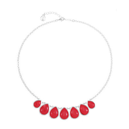 Liz Claiborne 18 Inch Cable Collar Necklace, One Size , Red
