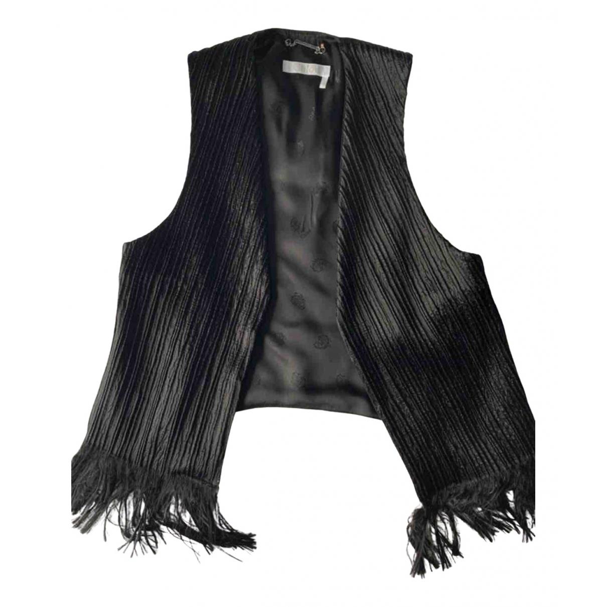 Chloe - Pull   pour femme en coton - noir