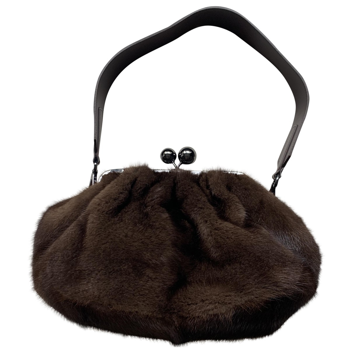 Max Mara Weekend \N Brown Mink handbag for Women \N