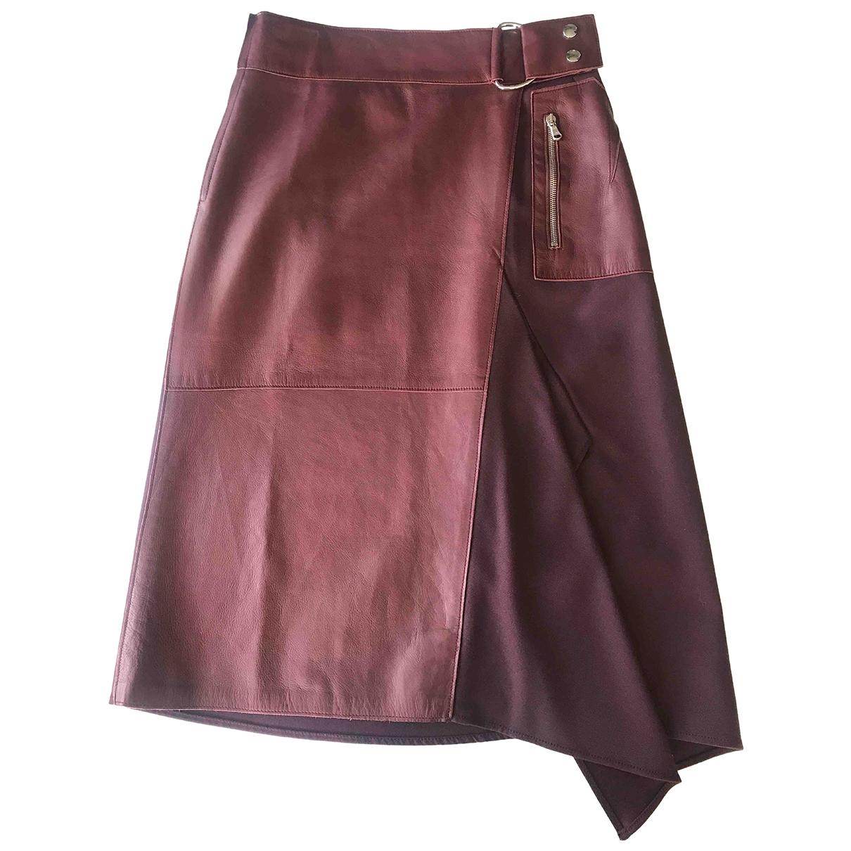 3.1 Phillip Lim \N Rocke in  Bordeauxrot Leder