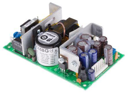 SL POWER CONDOR , 60W Embedded Switch Mode Power Supply SMPS, 5.1 V dc, ±12 V dc, Open Frame