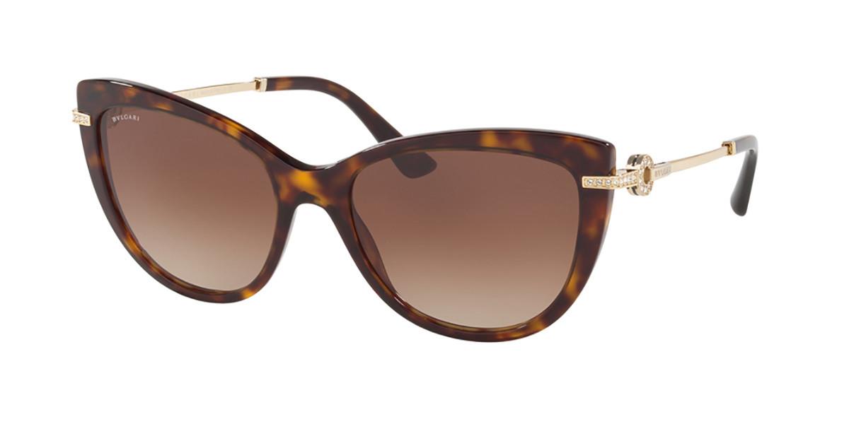Bvlgari BV8218BF Asian Fit 504/13 Women's Sunglasses Tortoise Size 55