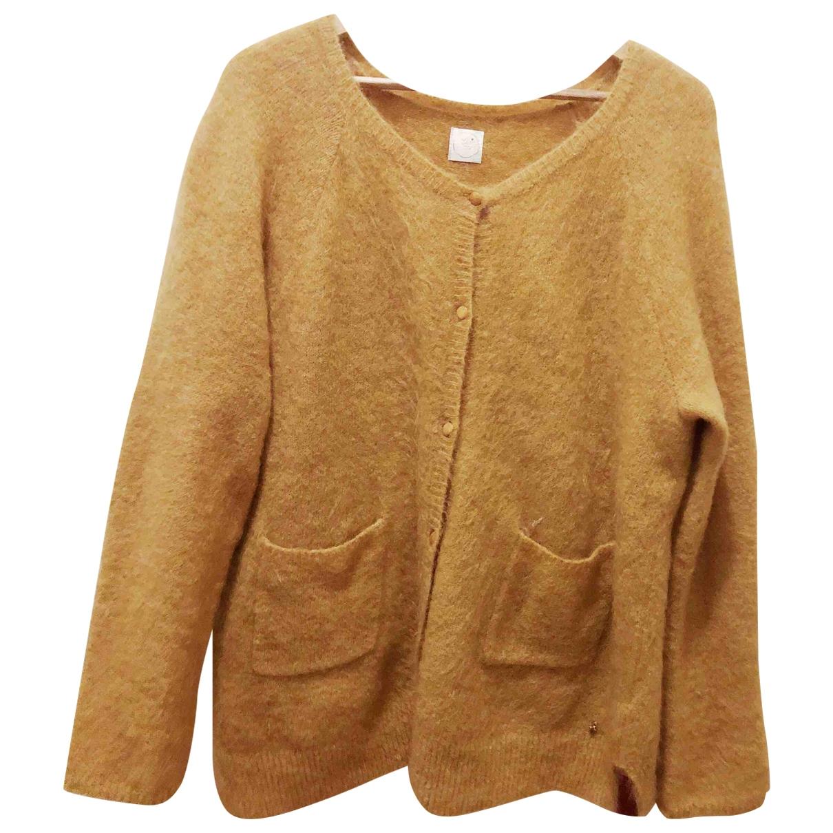 Des Petits Hauts \N Yellow Wool Knitwear for Women 3 0-5