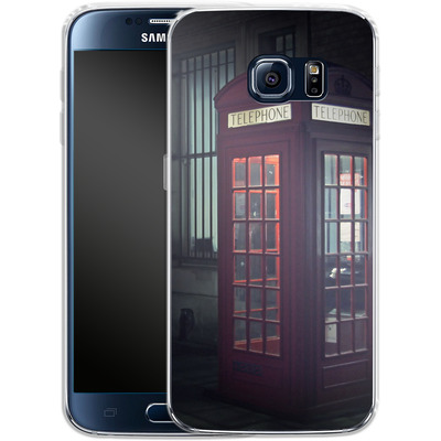 Samsung Galaxy S6 Silikon Handyhuelle - London Calling 2 von Ronya Galka