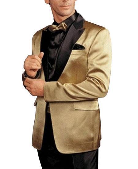 Alberto Nardoni Gold Black  ~ Champagne Sport Coat ~ Blazer Jacket