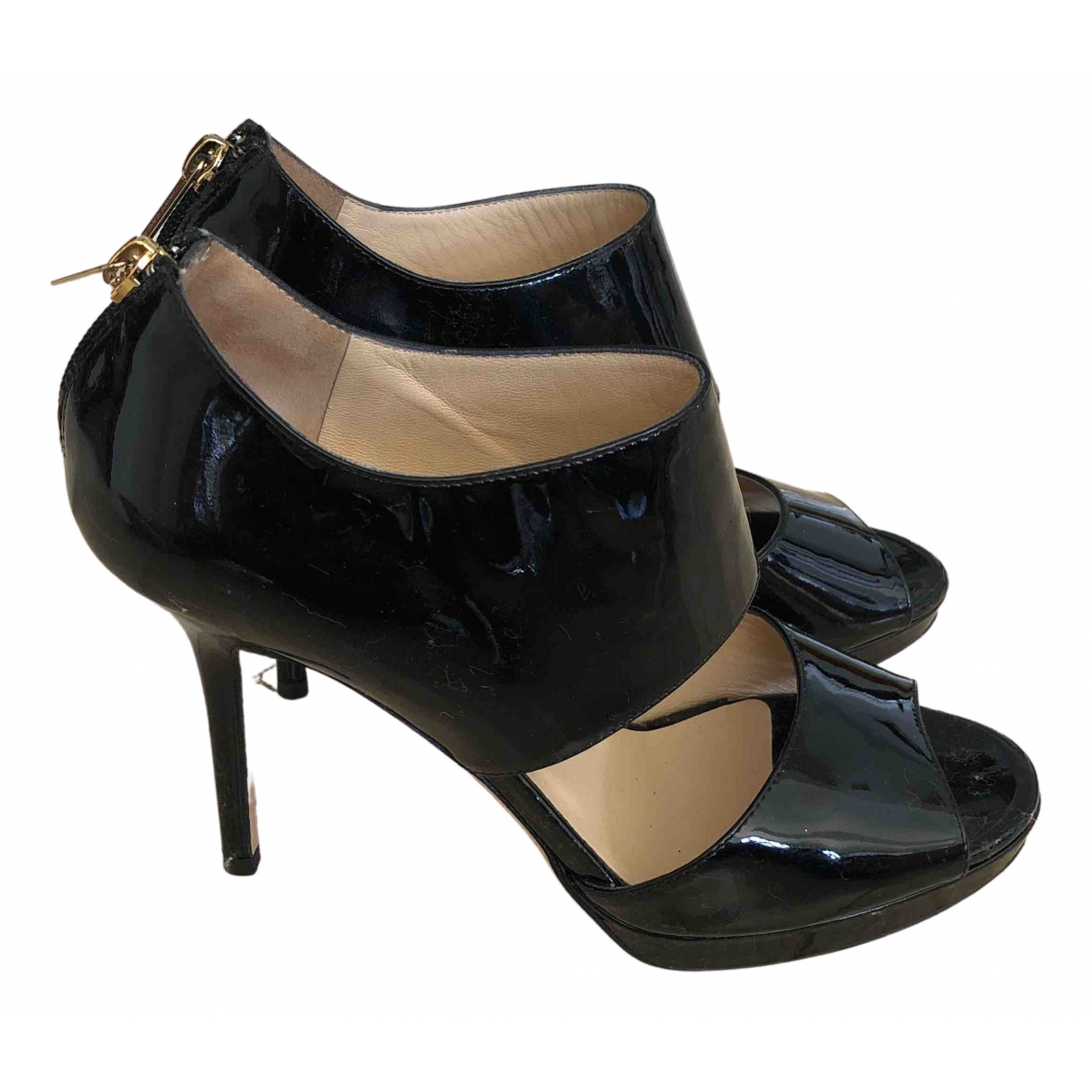 Jimmy Choo \N Black Patent leather Heels for Women 38 EU