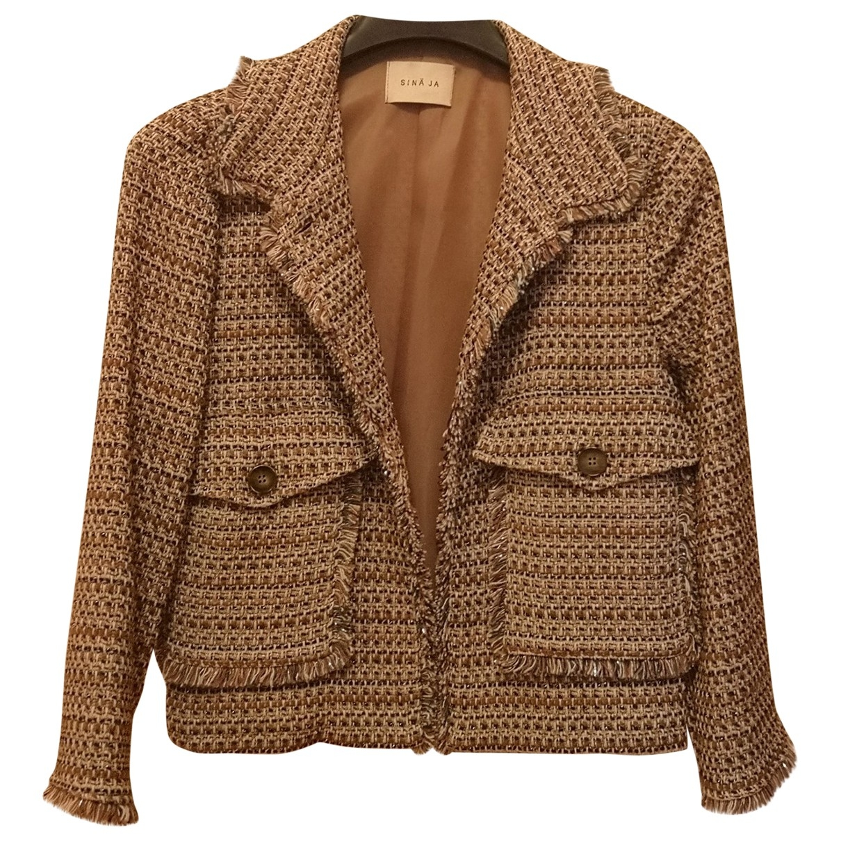Non Signé / Unsigned \N Camel Cotton jacket for Women 44 IT