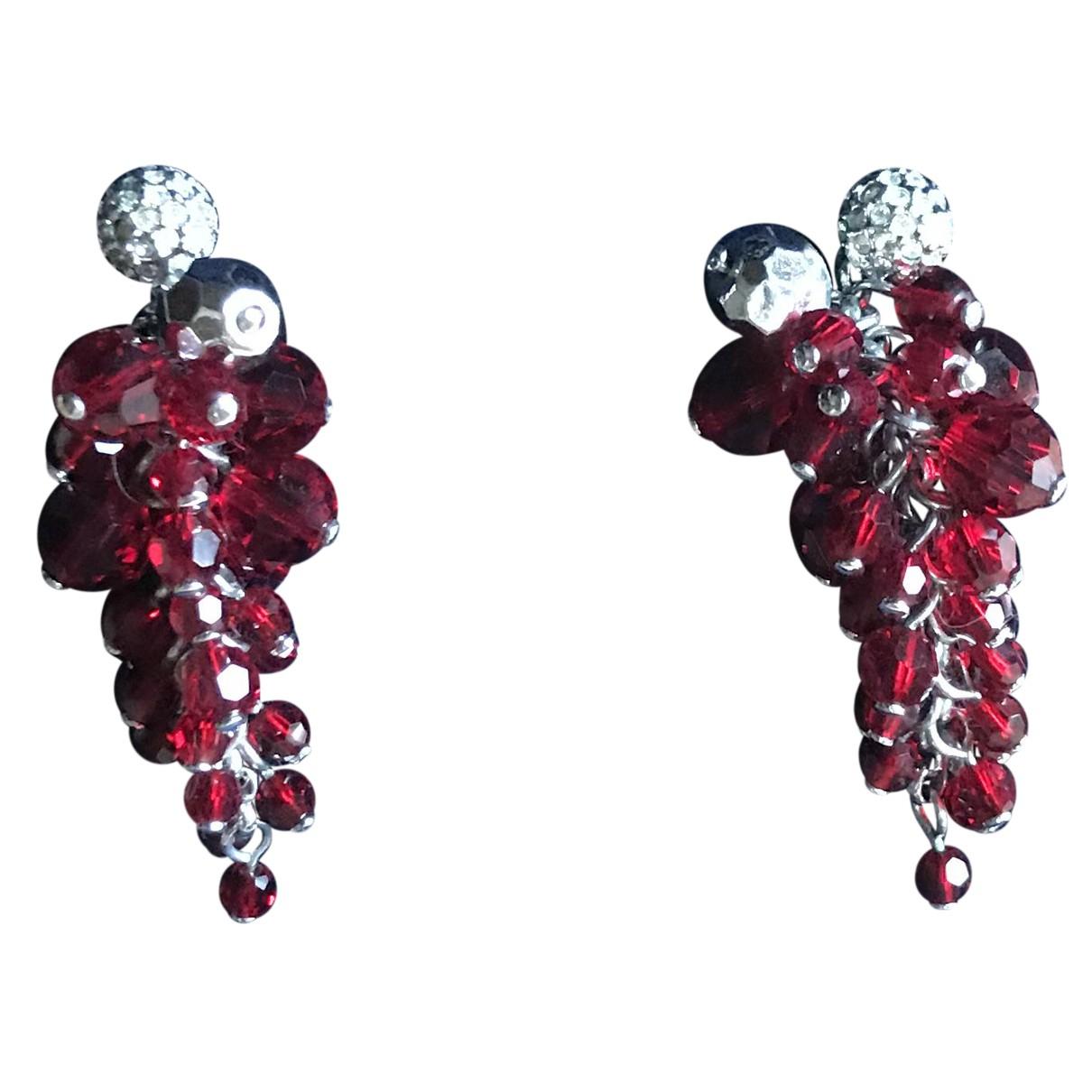 Swarovski N Red Crystal Earrings for Women N