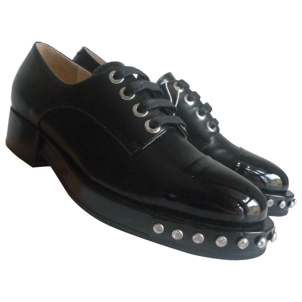 N°21 - Derbies   pour femme en cuir - noir