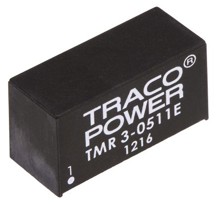 TRACOPOWER TMR 3E 3W Isolated DC-DC Converter Through Hole, Voltage in 4.5 → 9 V dc, Voltage out 5V dc