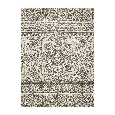 Concord Global Trading New Casa Collection Aubosson Area Rug, One Size , Gray