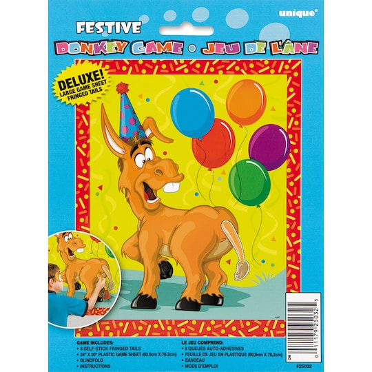 Large Pin The Tail On The Donkey Party Game For 8 Players By Unique | Michaels®