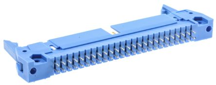 TE Connectivity AMP-LATCH, 2.54mm Pitch, 50 Way, 2 Row, Straight PCB Header, Through Hole