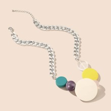 Colorful Round Decor Necklace