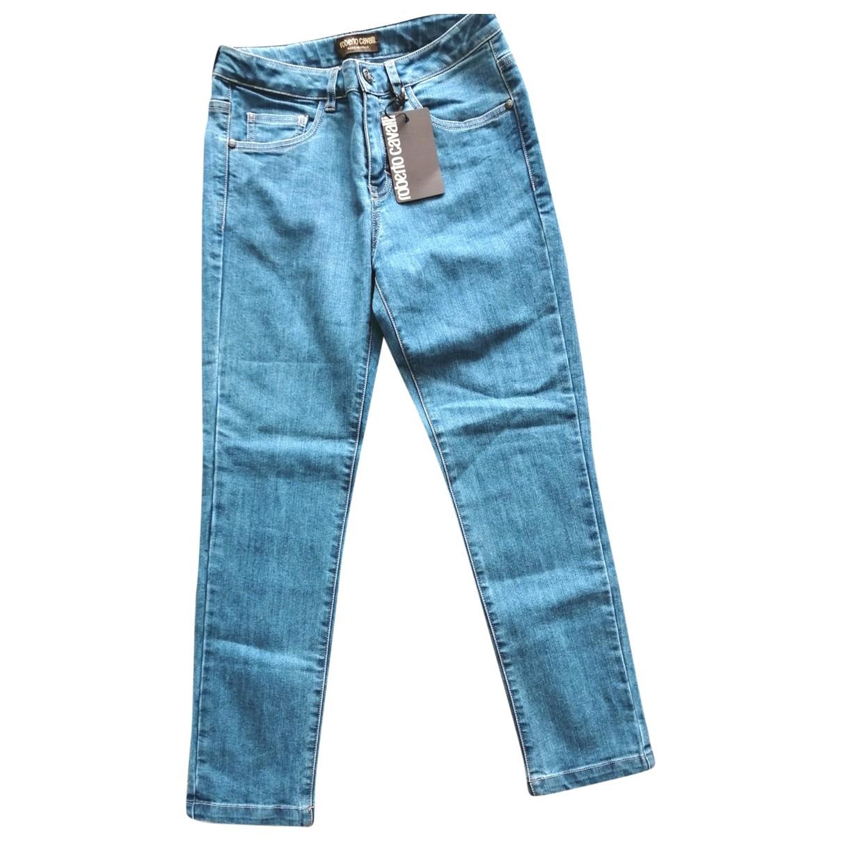 Roberto Cavalli \N Blue Denim - Jeans Jeans for Women 34 FR