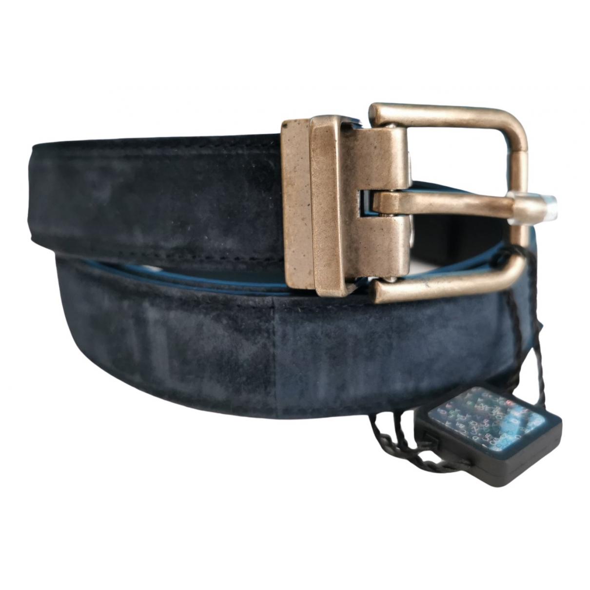 Dolce & Gabbana \N Navy Suede belt for Women 85 cm
