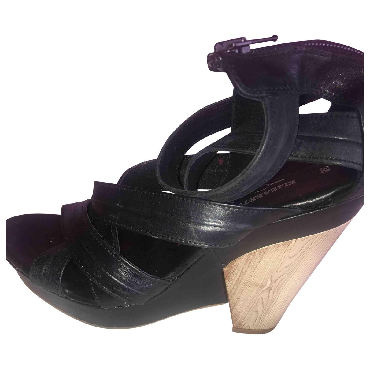 Elisabeth Stuart - Sandales   pour femme en cuir - noir
