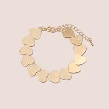 Metallic Heart Decor Bracelet