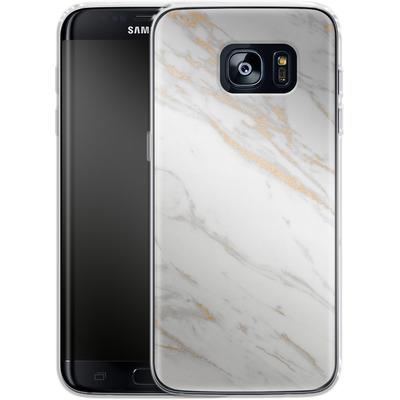 Samsung Galaxy S7 Edge Silikon Handyhuelle - Gold Marble Elegance von #basic