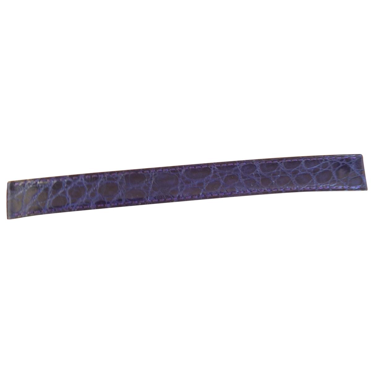 Poiray - Montre Bracelet Ma Premiere pour femme en cuir exotique - violet