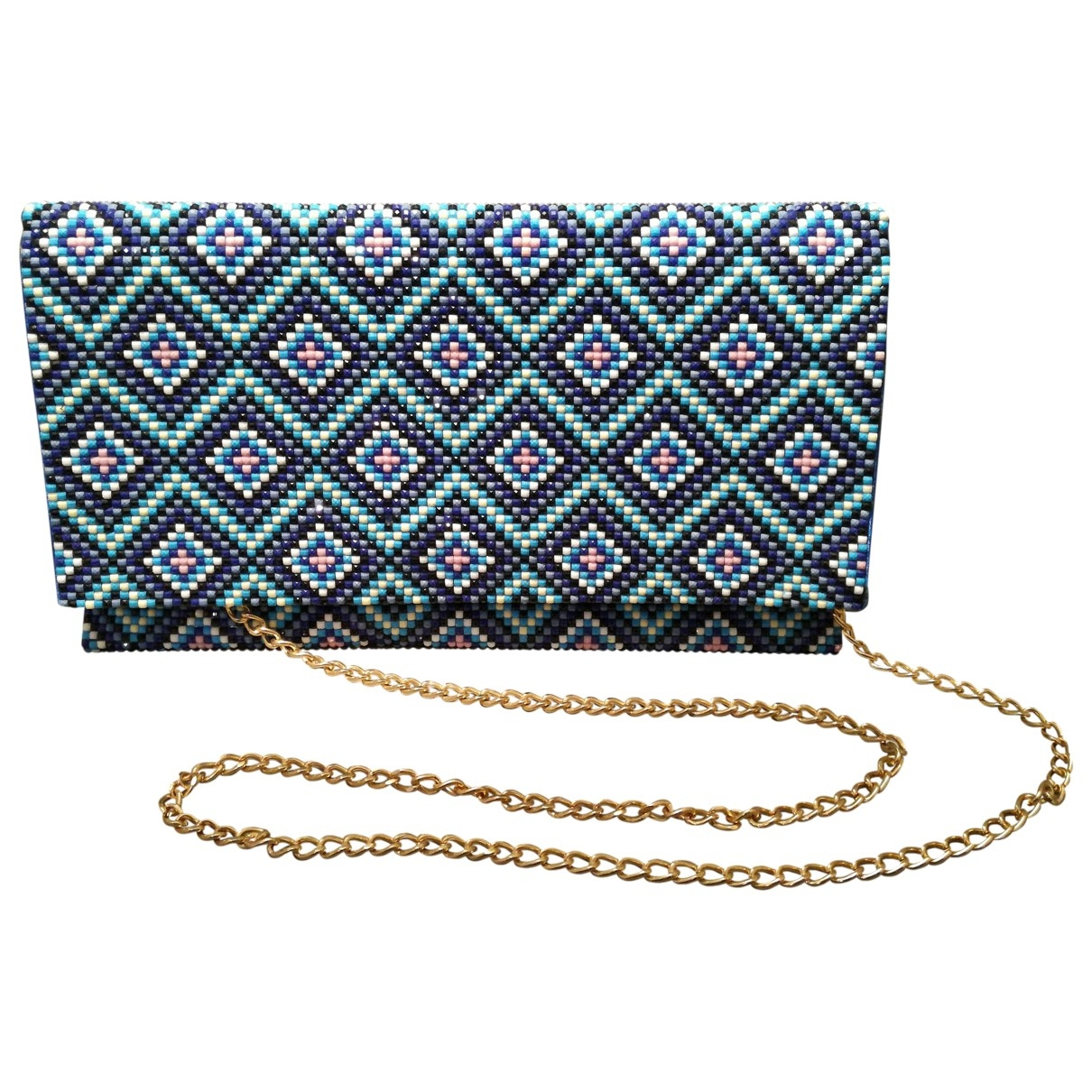 Non Signé / Unsigned \N Blue Glitter Clutch bag for Women \N