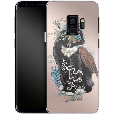 Samsung Galaxy S9 Silikon Handyhuelle - Black Magic von Mat Miller