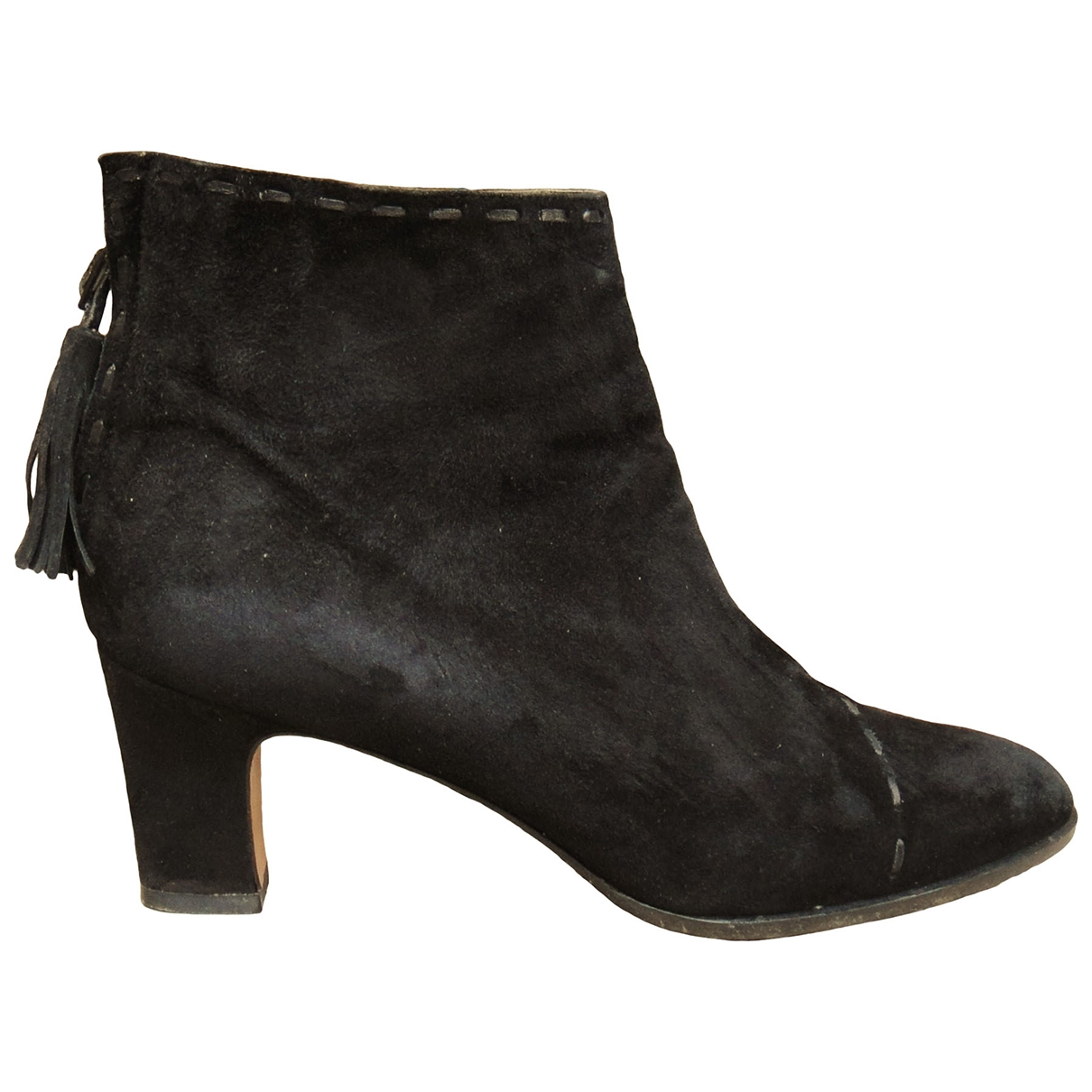Gucci \N Black Suede Ankle boots for Women 6.5 US