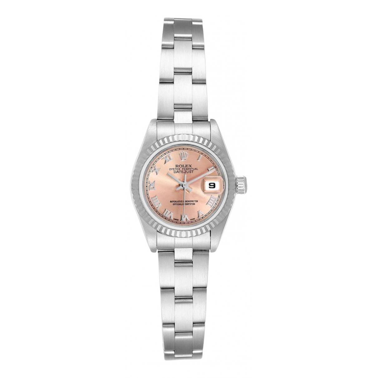 Rolex Lady DateJust 26mm Pink Steel watch for Women \N