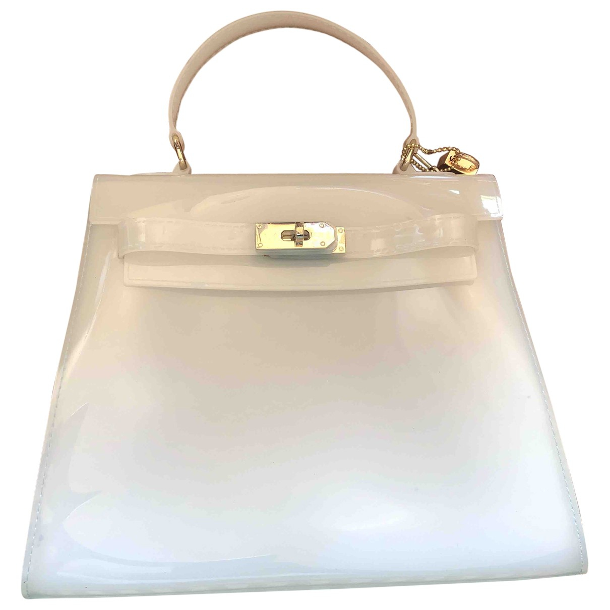 Non Signe / Unsigned \N Handtasche in  Weiss Kunststoff