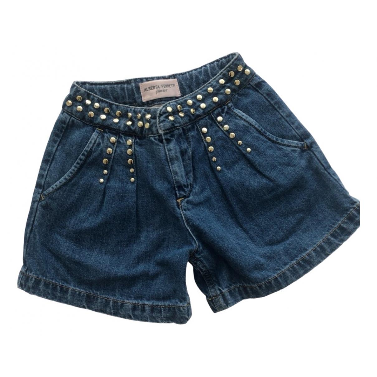 Alberta Ferretti \N Shorts in  Blau Denim - Jeans