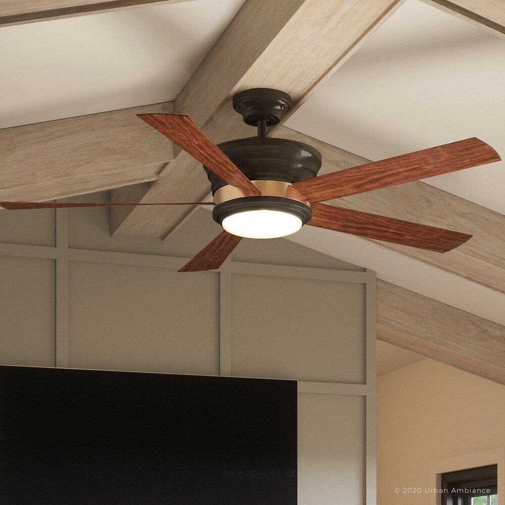 Luxury Contemporary Indoor Ceiling Fan, 15.5