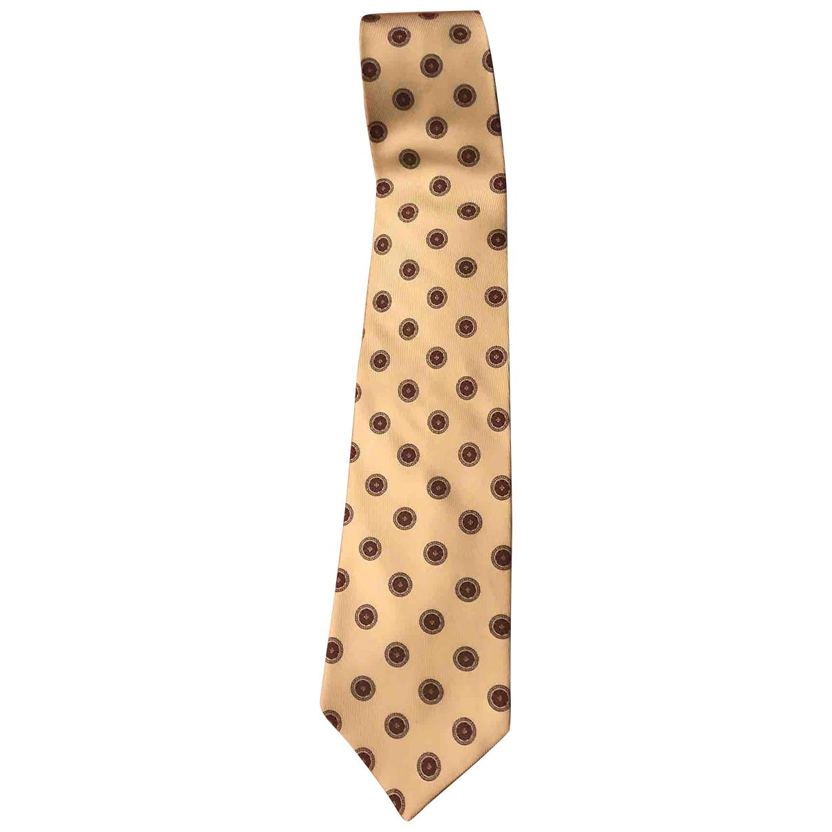 Etro \N Krawatten in  Gold Seide