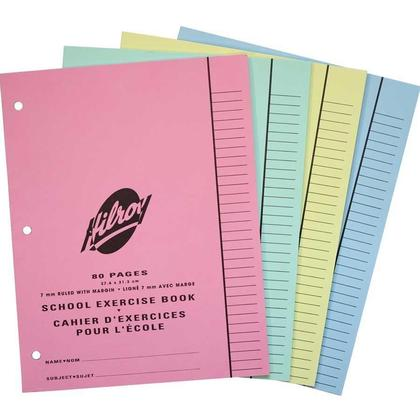 Hilroy Multi-Size Exercise Notebook -8-1/2 x 11