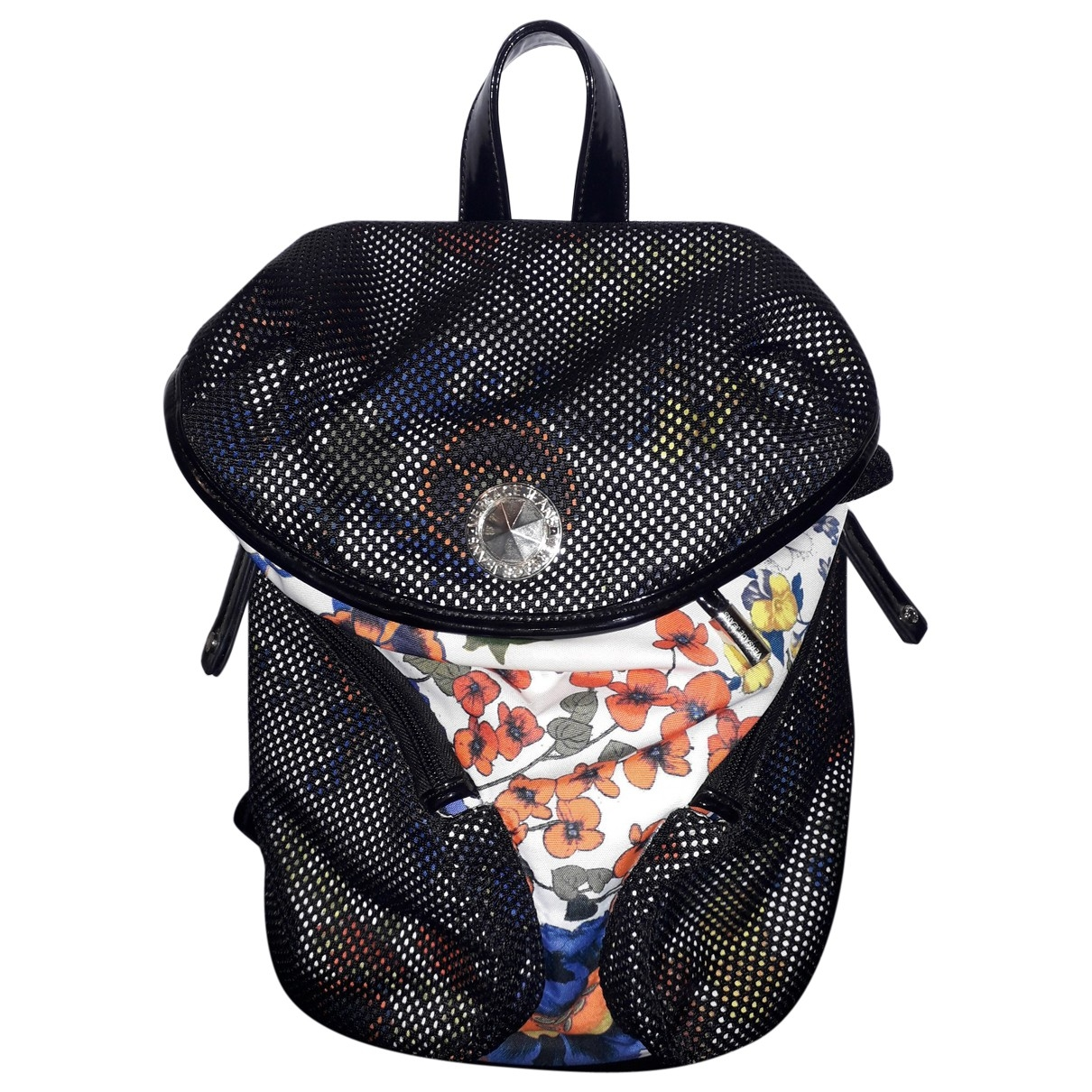 Versace Jeans \N Multicolour Patent leather backpack for Women \N